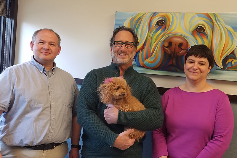 Drs. Manny Kanter, David Cohen and Sarah Mateles will treat your pet as if they were their own.